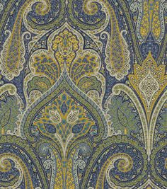 Home Decor Upholstery Fabric-Waverly Cashmere / Sapphire