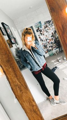 42 beste Mode Teenager sollten Sie 59 kopieren Outfits for Woman Vans Outfit, Outfit Jeans, Cute Outfits With Leggings, Cardigan Outfits, Mode Outfits, Jean Outfits, Trendy Outfits, Fashion Outfits, Womens Fashion
