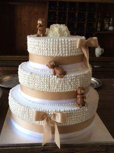Orsacchiotti e fiocchi d'auguri per la Torta Battesimo & #MatrimonioATorreDelParco