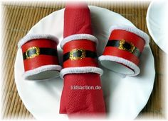 tinker - Christmas napkin ring empty toilet paper roll Source by katjaacquista