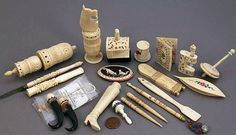 antique ivory sewing notions and more.