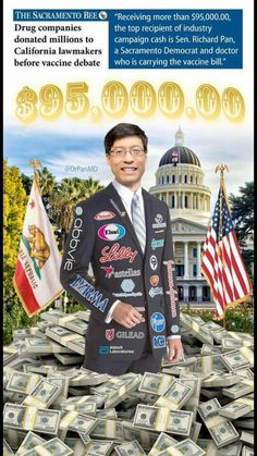 This is what pure evil looks like! No good, paid off Senator Richard Pan