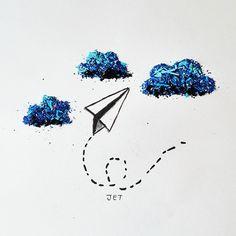 Paperjet Pencil Shaving Art by Megan Maconochie on Instagram