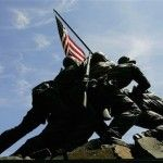 The Marine who led the charge up Mount Suribachi to place the first American flag over Iwo Jima in World War II died last week.    First Lt. John Wells died Thursday at the age of 94 at a rehabilitati