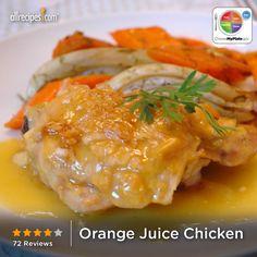 Orange Juice Chicken from Allreicpes.com #myplate #protein