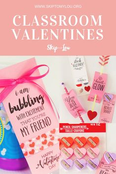 Celebrate Valentine's Day with over 50 of the cutest classroom Valentines. All the ideas are right here and the best part is I have created printable Valentine tags for each and every idea. Go to the store and see what little trinkets, candy or food you c Valentines Diy, Valentine Day Gifts, Printable Valentine, Valentine Activities, Craft Activities For Kids, Arm And Hammer Super Washing Soda, Heart Bubbles, Valentine's Day Printables, Christmas Printables