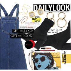 Daily Look: Pinafore Dress Style - Fashion look Gold Pinky Ring, Nyx Soft Matte Lip Cream, Virtual Fashion, Pinafore Dress, Daily Look, Get The Look, Fashion Dresses, Fashion Looks, Outfits