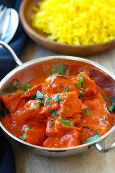 Chicken Tikka Masala - rich and creamy chicken tikka masala recipe with spicy tomato sauce. Easy and much better than Indian restaurants.