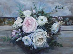 "Daily Paintworks - ""The Wedding Bouquet"" - Original Fine Art for Sale - © Linda Marino"