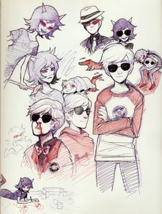 Homestuck Dave and Terezi, I don't ship it but I love these pics of dave