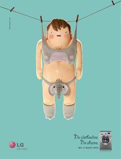 LG: No clothesline No shame Print Ad