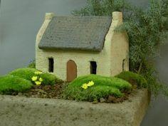 Hypertufa French Farm House
