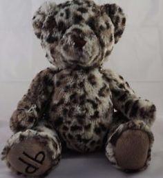 DENNIS-BASSO-15-034-Plush-FAUX-FUR-Leopard-MONOGRAM-TEDDY-BEAR-Luxe-Oh-So-SOFT #DennisBasso #Basso #Teddy #Fuzzy