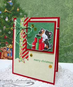 Kim'sCards&Crafts: MM & Newton's Nook | Merry Christmas cat card using Newton's Birthday Bash stamp set by Newton's Nook Designs