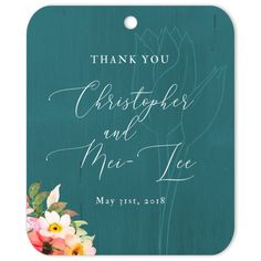 The Tulips Thank You gift tag is the perfect favor decoration or gift tag for weddings and engagements. Wedding Gift Tags, Wedding Favours, Diy Wedding, Party Favors, Thank You Tags, Thank You Gifts, Party Planning, Wedding Planning, Green Gifts