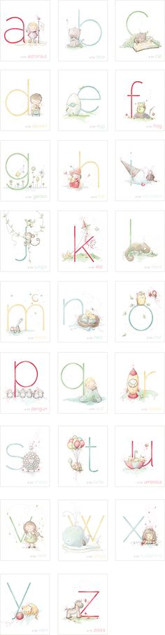 Rachelle Anne Miller is a published children's illustrator selling art prints and greeting cards of her whimsical artwork. Alphabet And Numbers, Baby Art, Baby Kind, Nursery Art, Scrapbook, Hand Lettering, Clip Art, Embroidery, Kids