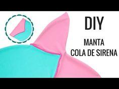 Cómo hacer manta cola de sirena | Mermaid tail blanket