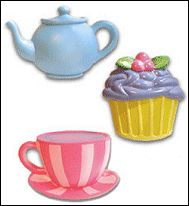How delighted your little girl will be when she'll be able to decorate her room with these authentic-looking drawer pulls! With a choice of a cupcake, a teacup, or blue tea pot, or all 3, tea time will really come alive in her bedroom!