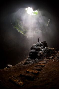 The heavenly light in Grubug Cave / Indonesia (by Andrew JK...
