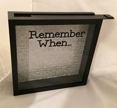 12x12 Shadow box Ticket Stub Holder or Keepsake/Memory by ReminisceInStyle