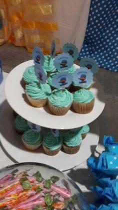 Mini cupcakes de pocoyo