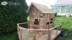Small Pallet Playhouse / Petite Cabane En Bois De Palette Pallet Sheds, Pallet Cabins, Pallet Huts & Pallet Playhouses