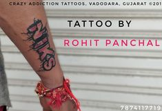 Niks name tattoo by Rohit Panchal at crazy Addiction Tattoos Name Tattoos, Tattoo Quotes, Addiction, Inspiration Tattoos, Quote Tattoos