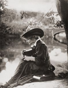 Vintage Photography: Woman with Kodak camera c.1900