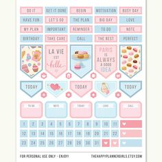 Planner Stickers Happy Planner Stickers Printable Stickers