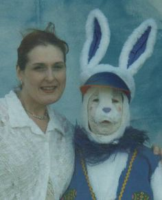 Creepy Easter Bunny pics ... this one kinda looks like a real rabbit dressed up like a marching band rabbit for the Easter parade.