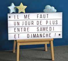 Un véritable pense-bête lumineux. Merci à My little lovely company #pensebete #boxlumineuse #lightbox #alittlelovelycompany #message #lumineux #lampe #luminaire #contemporain #enfant #kids #weekend