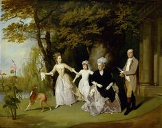 The Wilkinson Family - Francis Wheatley --The Detroit Institute of the Arts Classic Paintings, Great Paintings, Landscape Paintings, A4 Poster, Poster Prints, Old Family Photos, Writing Art, Vintage Artwork, Family Portraits