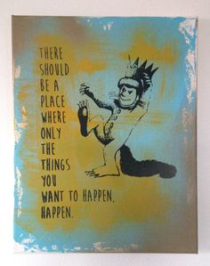 Where The Wild Things Are Nursery Screen Prints by RobboShop, $21.00