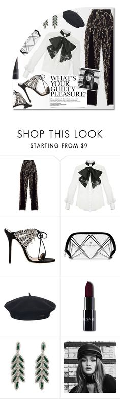 """- Black and White Party -"" by fashionablemy ❤ liked on Polyvore featuring Elisabetta Franchi, Giuseppe Zanotti, Illamasqua, Element, Forever 21, Maybelline, chic, white, black and party"