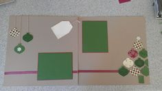 Stampin' Up! Christmas Scrapbook page.I really like the simplicity of this page <3