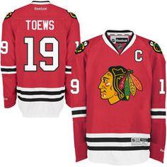 Men's Chicago Blackhawks Jonathan Toews Reebok Red Home Premier Jersey