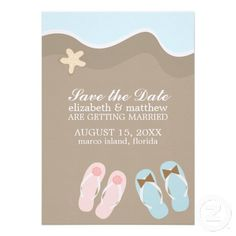 58aa3e0bb His and Hers Flip Flop Sandals Wedding Custom Invites Whimsical Wedding  Invitations