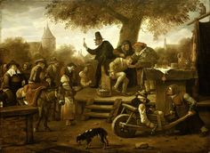 De kwakzalver, Jan Havicksz. Steen, 1650 - 1660