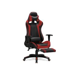 Red Armchair, Executive Office Chairs, Gaming Chair, Swivel Chair, Leather, Color Black, Design, Swinging Chair