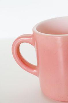 Vintage Set of Two Hazel Atlas Pink Mugs by MotherandSonVintage, $18.00