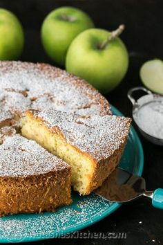 Russian Apple Cake: BEST soft and airy apple sharlotka cake we've tried. Just 5 ingredients and 15 min of prep then your oven does the rest! It's so quick and easy to make. Sponge Cake Recipes, Apple Cake Recipes, Easy Baking Recipes, Genoise Sponge Cake Recipe, Apple Sponge Cake, Dessert Recipes, Russian Apple Cake Recipe, Russian Recipes, Just Desserts