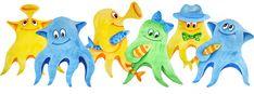 Детки! - Веселые осьминожки. Настольная игра для детей