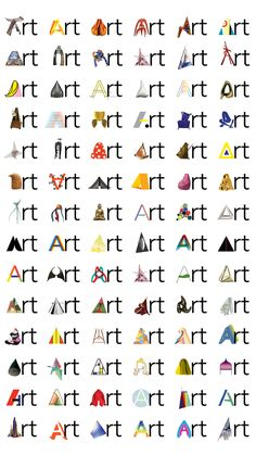 Philadelphia Museum of Art, Pentagram (Paula Scher).  In certain instances, such as special exhibitions, retail, invitations, badges and tickets, special 'A's may be used to emphasize the breadth of art at the Museum. A series of 200 'A's were created representing different styles of art and works in the collection.