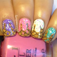 Ice cream cone drips #nail #nails #nailart