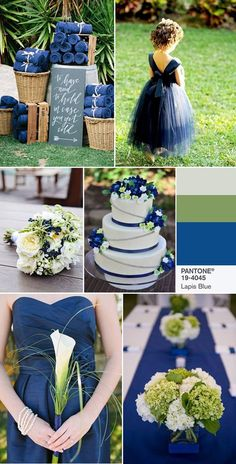 """""""Pantone Top 10 Spring Wedding colors 2017 - PANTONE 19-4045 Lapis Blue Conveying even more energy is Lapis Blue. Strong and confident, this intense blue shade is imbued with an inner radiance. https://www.pinterest.com/pin/334321972322514434/"""""""