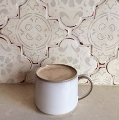 Mondays, Coffee First. Med. 26 kitchen backsplash