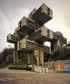 Former Ministry of Highways Buildings, Tbilisi, Georgia, 1974