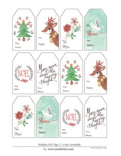 gift tags printable by oanabefort, via Flickr