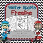 Winter Sports Freebie! Practice graphing, extending patterns, and adding up to 10. Great for Kindergarten-1st. Just in time for learning about Olym...