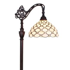 Amora lighting tiffany style jeweled reading floor lamp 62 in enhance your favourite reading spot with a dedicated light source using this handy indoor floor lamp this piece features a sturdy glass and metal aloadofball Image collections